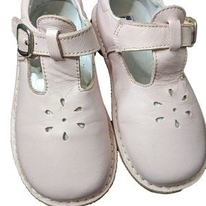 L'Amour Girls Pink Leather Mary Jane Clogs Size 12